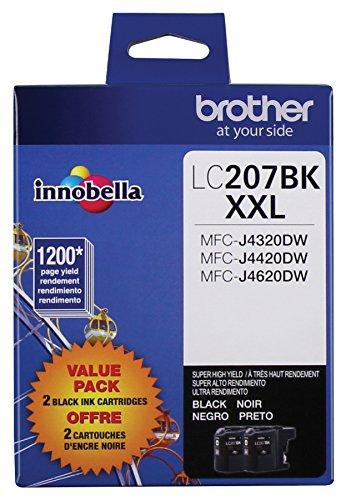 Brother Printer LC2072PKS Multi Pack Ink Cartridge, Black - Pack of 2