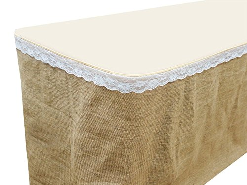 BalsaCircle 14 feet x 29-Inch Natural Brown Burlap Jute Table Skirt Linens Wedding Party Events Decorations Kitchen Dining Catering