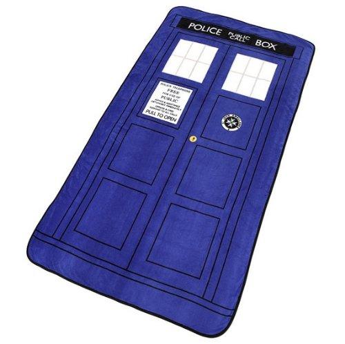 Doctor Who TARDIS Exclusif Throw Blanket ThinkGeek