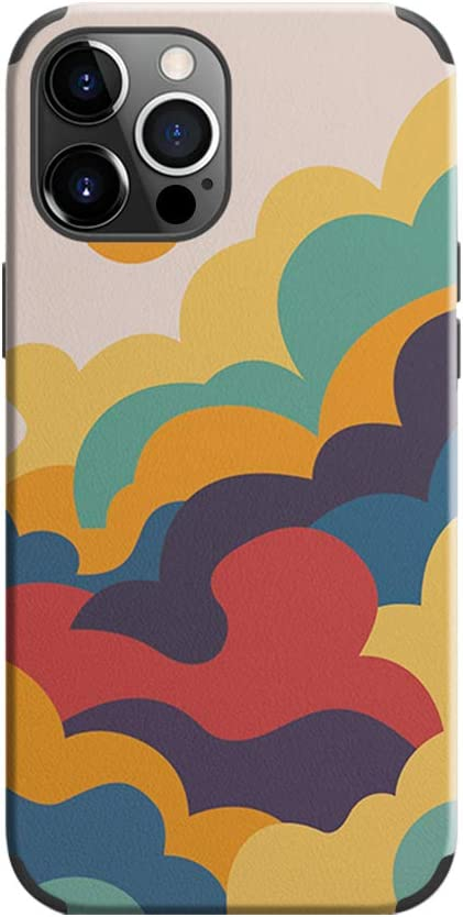Zapdaz Soft Case for iPhone 12 Pro Max Case?Oil Painting Pattern? Soft TPU Bumper Shockproof Phone Case,Silicone Rubber Case Comfortable Grip Anti Scratch Slim Protective Cover for 12 Pro Max 6.7''