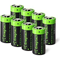 Arlo Batteries Rechargeable, Enegitech 8 Pack CR123A Rechargeable Batteries 3.7V 750mAh RCR123A Li-ion Battery Arlo Cameras Flashlight Security System