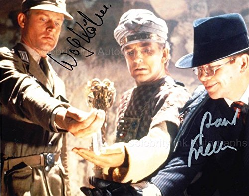 PAUL FREEMAN and WOLF KAHLER as Dr. Rene Belloq and Colonel Dietrich - Raiders Of The Lost Ark GENUINE AUTOGRAPHS from Celebrity Ink