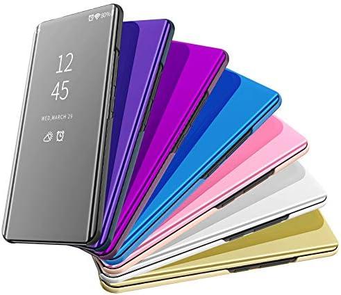 Etui kompatybilne z Samsung Galaxy S8, etui na telefon komÓrkowy do Galaxy S8 Flip Clear View etui ochronne Mirror Case Chroń wszystkie strony telefonu z funkcją stojaka do Samsung S8 -: Odzież