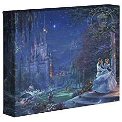 Thomas Kinkade Studios Cinderella Dancing in the Starlight 8 x 10 Gallery Wrapped Canvas