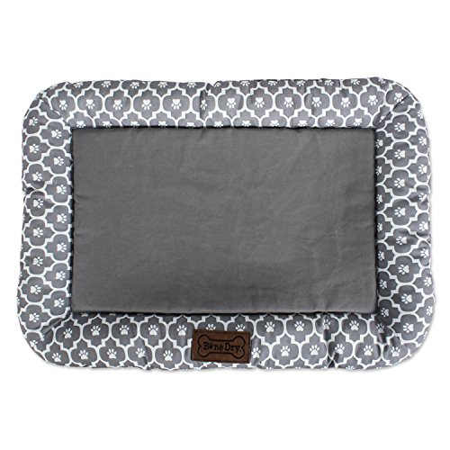 Bone Dry DII Small Rectangle Lattice Kennel & Crate Padded Pet Mat, 17x22 for Dogs or Cats-Gray by Bone Dry (Image #6)