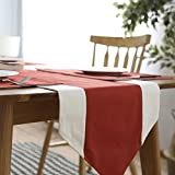 Table flag modern simple bed flag,nordic table towel fabric cotton linen table flag-C 35x160cm(14x63inch)
