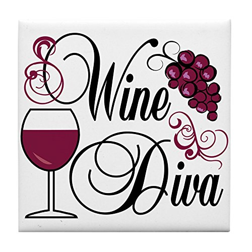 Diva Tile Coaster - CafePress - Wine Diva - Tile Coaster, Drink Coaster, Small Trivet