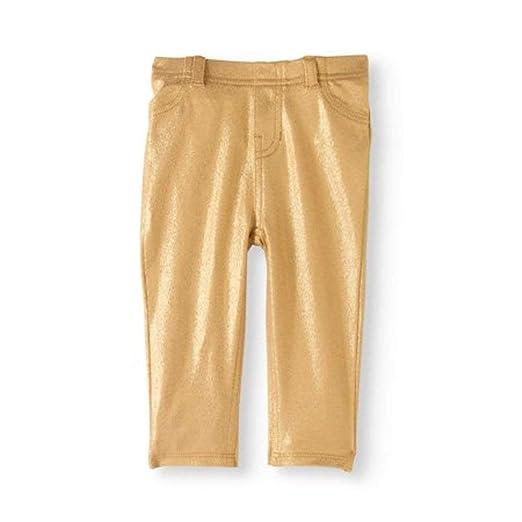 91fecdf30afa8 Amazon.com: Garanimals Newborn Baby Girls' Foil Jeggings Gold (3T ...