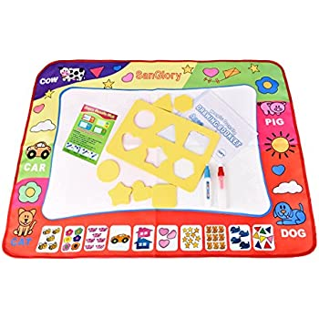 Delicieux SanGlory Aqua Doodle Mats Magic Water Drawing Mat Large 32x24in Painting  Pad With 2 Pens 6