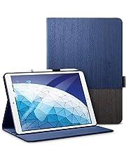 ESR Urban Premium Folio Case for iPad Air 3 2019, [Apple Pencil Holder], Book Cover Design, Multi-Angle Viewing Stand, Smart Cover Auto Sleep/Wake, Knight