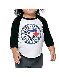Toronto Blue Jays Logo Kids 3/4 Raglan Baseball T Shirts