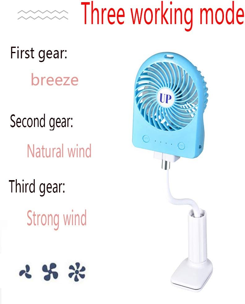 Flexible Bendable Mini Personal Fans with Rechargeable Operated Quiet Desk Fans for Bed Car USB Portable Clip On Stroller Fan Dorm