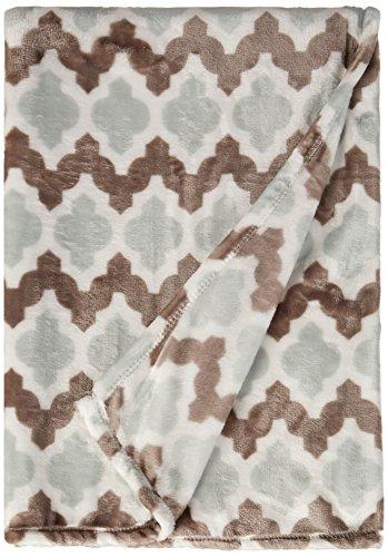 Northpoint Ruya Oversized Printed Velvet Plush Throw Blanket