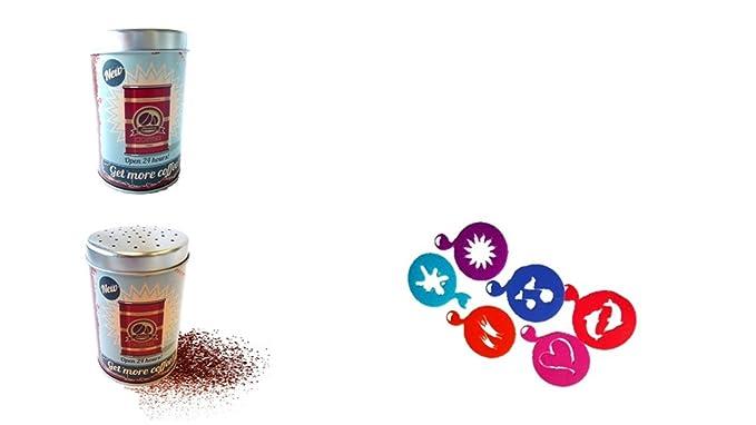 Tee mit Aromadeckel silber Neu mit L/öffel Xavax Edelstahldose f/ür 1kg Kaffeebohnen Kakao 4 Glastassen 200ml