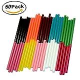 Ewparts 50 pack Glitter Hot Melt Adhesive Gule Stick 7 x 100mm Multi Color (Colored)