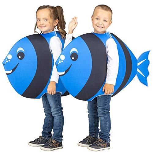 My Other Me Disfraz de Pez Cirujano Azul para niños: Amazon.es ...