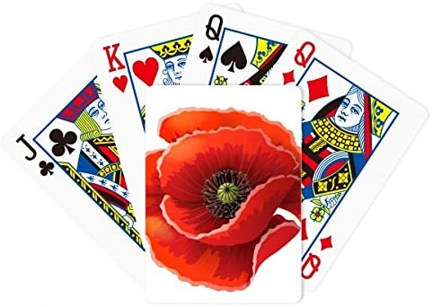 Red Flower Painting Big Corn Poppy Poker Juego de cartas de ...