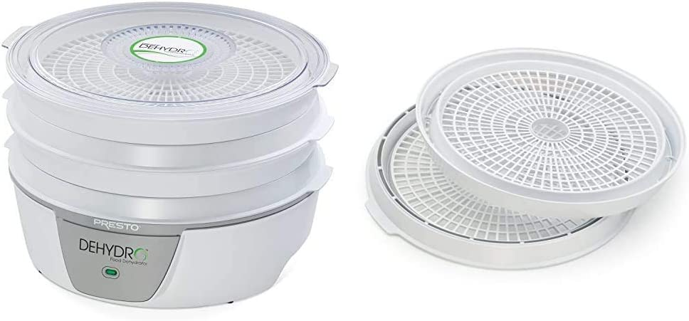 Presto 06300 Dehydro Electric Food Dehydrator, Standard & 06306 Dehydro Electric Food Dehydrator Dehydrating Trays
