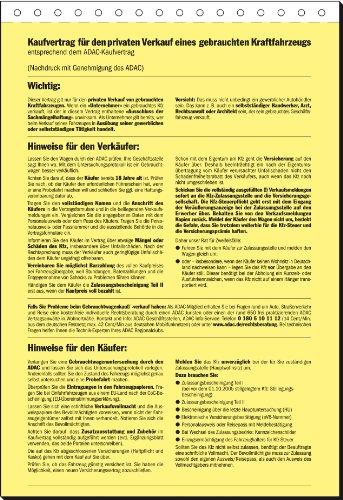 Sigel Kv44025 Kaufvertrag Für Gebrauchtes Kfz Adac Din A4 25