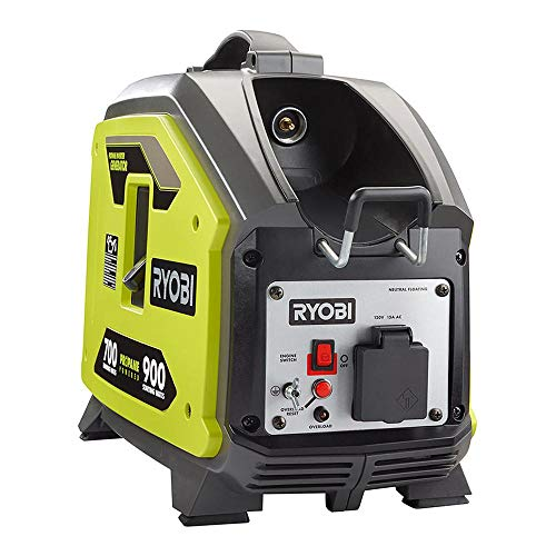 RYOBI Clean Power Propane Gas Powered Inverter Generator, 900 Starting Watt, with Auto-Idle Feature, Adapter Included (Propane NOT Included)
