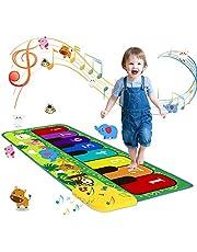 m zimoon Pianomatta för barn, musikmatta dansmattor beröring djur musikmatta matta för ålder 3-12 pojkar flickor