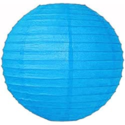 "Perfectmaze 20 Piece Round Chinese Paper Lantern for Wedding Party Engagement Decoration 10 Sizes / Colors+ (8"" (Inch), Turquoise)"
