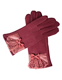 Ms Autumn And Winter Warm Gloves Cold Drive A Car Cycling Butterfly Touch Screen,2