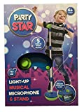 Party Star Kids Childrens Light Up Musical Microphone & Stand Pink / Blue (Blue)