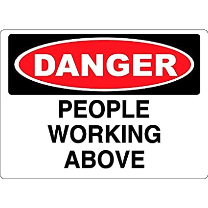 amazon com personalized metal signs danger people working above