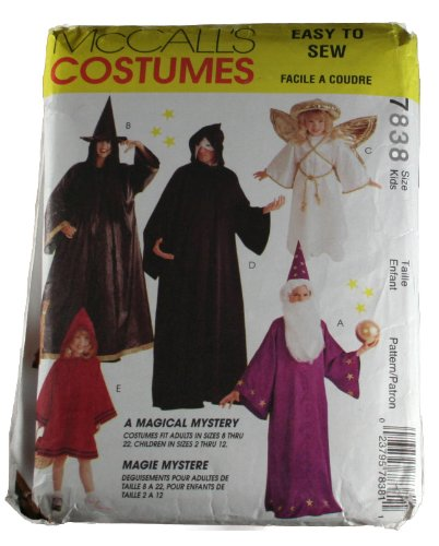 McCall's 7838 Sewing Pattern Kids Costumes Size 2-4,5-6,7-8,10-12 ()