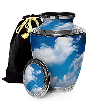 Image of Home and Kitchen Prime Preferred Choice Heavenly Clouds Cremation Urns for Human Ashes Adult, Urns for Ashes, Cremation Urns for Adult Ashes 200 Cubic Inches, Adult Large