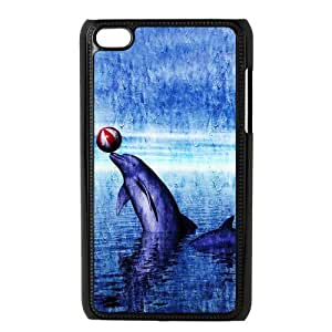 diy zheng Ipod Touch 4 4th Generation Back Protective Case - Cute Dolphin Patterned Sunset Ocean Sea Case Perfect as Christmas gift(2)