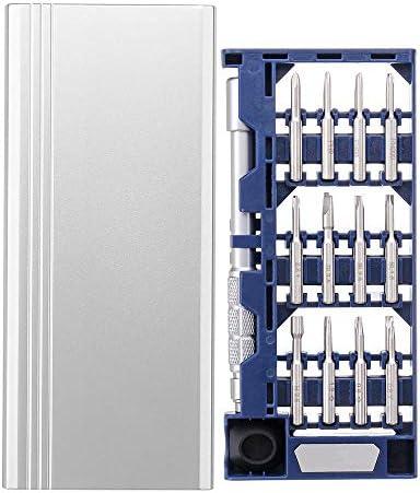 ドライバーセット 25で1多目的精密ドライバーセットS2スチール修復ツールデュアル触覚テールデザイン 家庭用DIY修理 (色 : Silver+Black, Size : 123X20mm)
