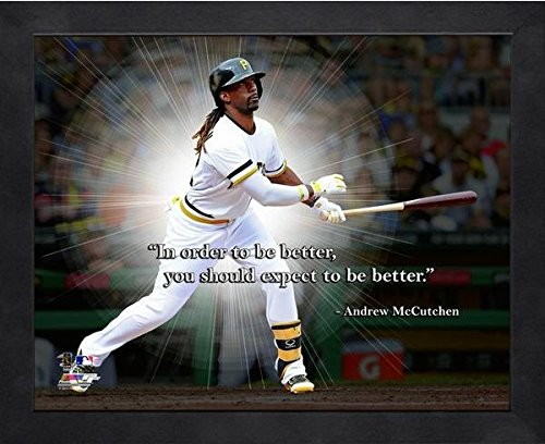 Pittsburgh Pirates Picture Frame (Andrew McCutchen Pittsburgh Pirates ProQuotes Photo (Size: 9