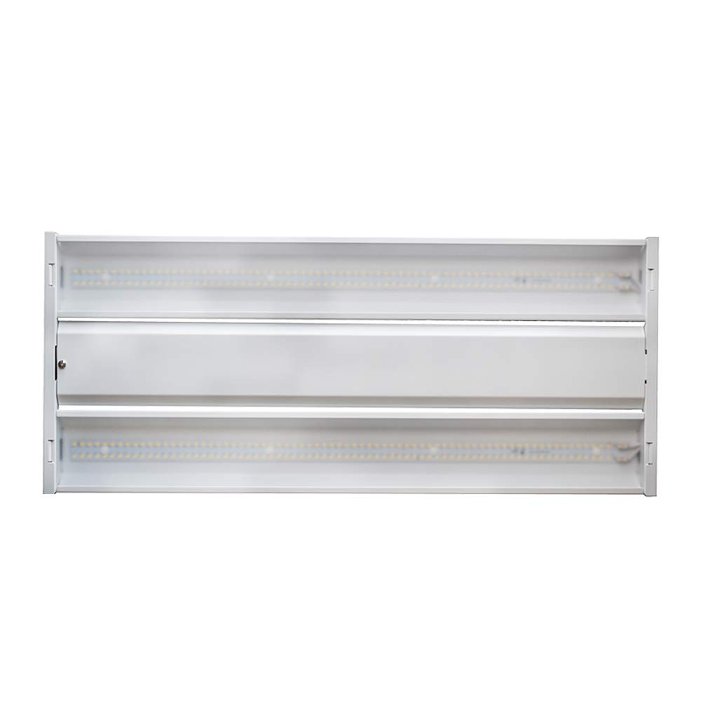 Economy LED High Bay Light Fixture by Superior Lighting - 90 Watt, 12000 Lumens, 5000K Bright White -Ideal for Small Warehouses, Garages and Shops - UL & DLC - 1'x2'