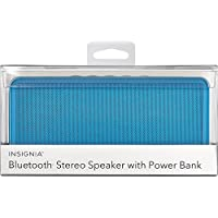 Insignia - Portable Bluetooth Stereo Speaker with Power Bank - Light Blue