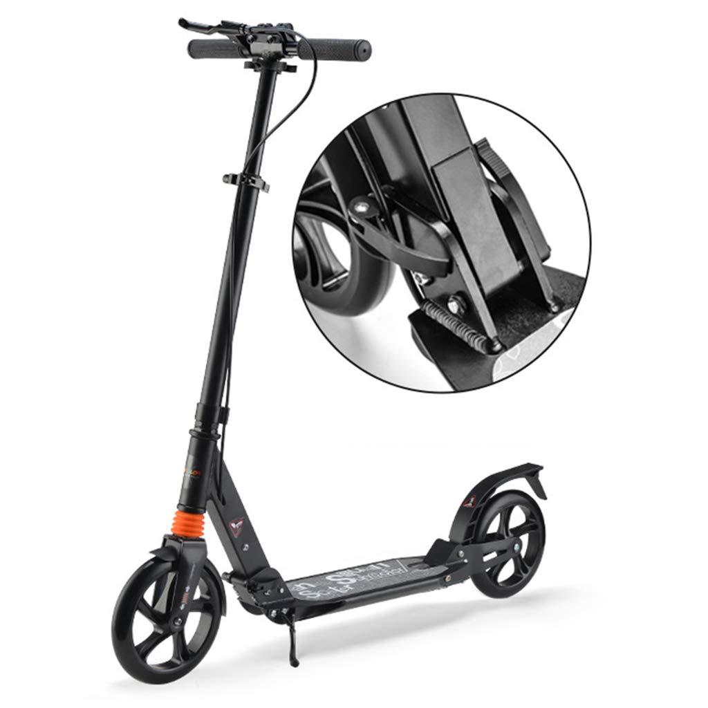 compras en linea Negro Patinetes Kick Scooter Adulto Plegable conmuta, Kick Scooters con con con Freno de Mano para Mujeres Hombres, Capacidad de Peso 100 kg, no eléctrico (Color   Negro)  en venta en línea