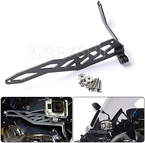 Black For BMW R1200GS LC 2013-2016 R1200GS LC Adventure 2014-2016 Motorcycle Sports Camera VCR Mount Bracket Cam Rack Indicator