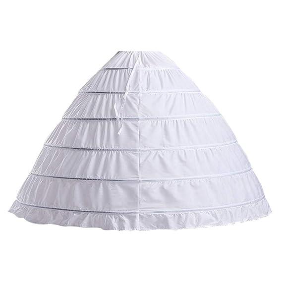 d6847d8ffc4 VKStar® Jupon Femme Mariage Crinoline Jupon Long sous Robe Cérémonie Soirée  Femme sous Jupe Robe de Mariée Femme Jupon Robe Sirène Princesse Style1  Blanc  ...