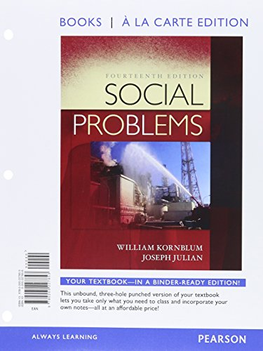 Social Problems, Books a la Carte Edition (14th Edition)