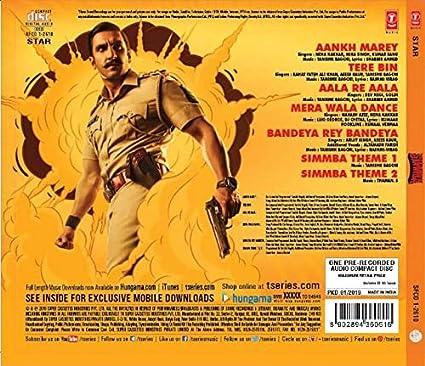 Simmba hindi movie song free download