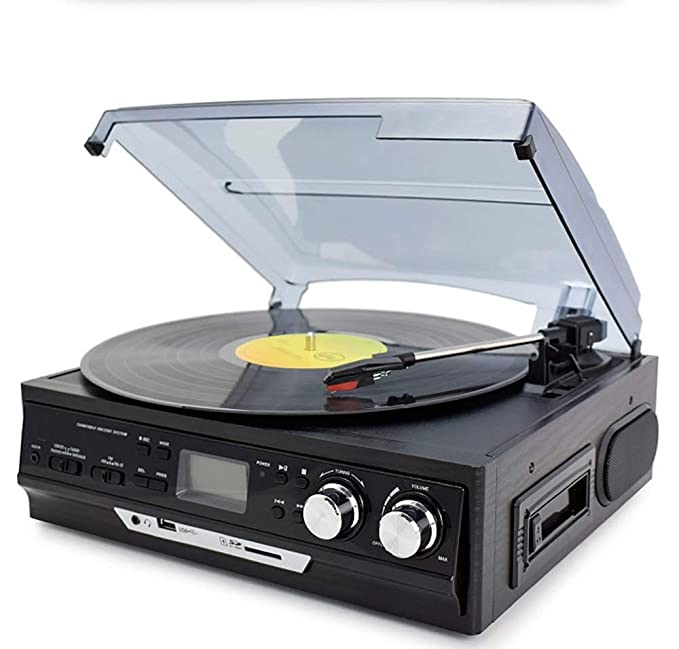 MQW Moderno Fonógrafo Vinilo Tocadiscos Gramófono Antiguo Radio ...