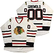 Clark Griswold #00 Hockey Jersey X-Mas Christmas Vacation The Movie Men