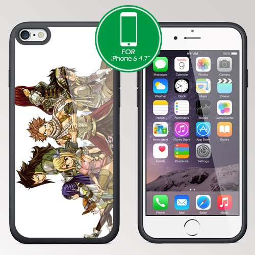 """New for Fairy Tail Manga iPhone 6 4.7"""" TPU Case Cover (#5 Black)"""