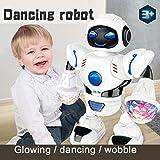 Electronics : Oguine Toddler Multifunctional LED Smart Robot Dance Music Kids Education Toys Robotics