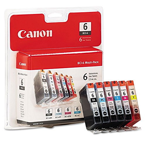 Bci 6 Six Pack - 2 Pack Canon BCI-6, 4705A018 OEM Genuine Inkjet/Ink Cartridge (One each: BCI-6BK, BCI-6C, BCI-6M, BCI-6Y, BCI-6PC, BCI-6PM) 6 Pack Set - Retail