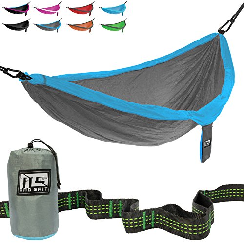 Best Deal  Double Parachute Camping Hammock With Straps   Carabiners By Mad Grit