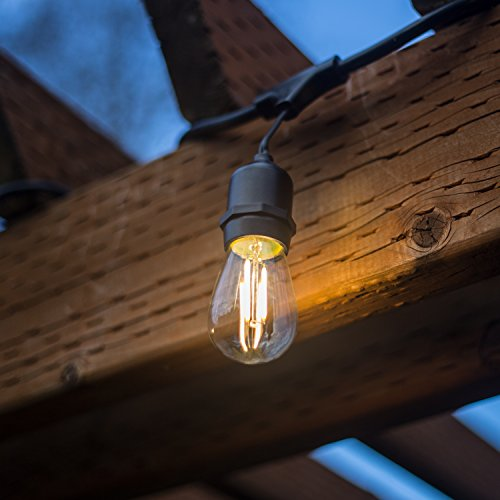 48-FT-LED-Outdoor-String-Lights-by-Proxy-Lighting-UL-Listed-15-Hanging-Sockets-Perfect-Patio ...