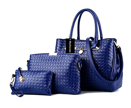Bolso Totalizador Mujer Bolso bolsas juntas Moda Azul Mujer Hombro Bandolera Bandolera Alidear Bolso Bolsos Bolso Profundo 3 Pu de zxqn7tww41