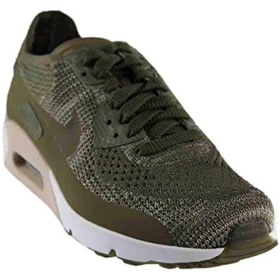 check out 0afcd 21431 NIKE AIR Max 90 Ultra 2.0 Flyknit Olive Green White Mens Running 875943 200